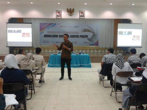 Lokakarya Konten Positif Gelaran Good News from Indonesia, Wahyu Aji Ajak Warganet Hindari Hoax