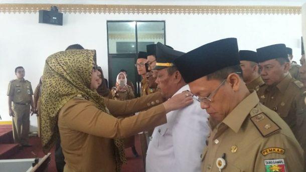 Bupati Tanggamus Dewi Handajani Lantik Pejabat Eselon II-IV