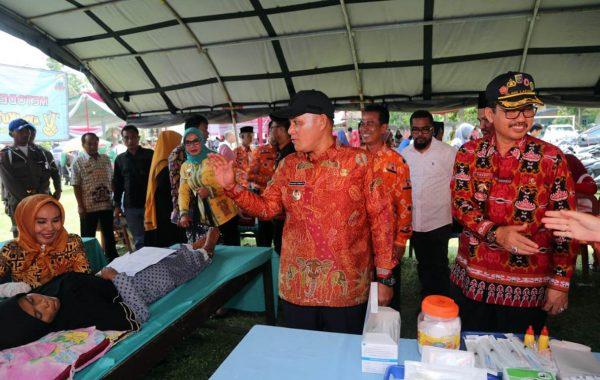 Musrenbang Tanjung Sari Lampung Selatan, Nanang Ermanto Tinjau Pelayanan KB