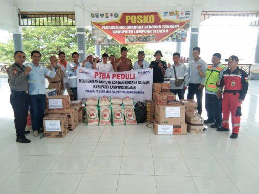 Bantu Korban Tsunami Lampung Selatan, Karyawan PT Bukit Asam Salurkan Sembako dan Tanam 200 Kelapa Kopyor
