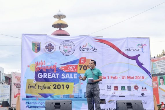 Gubernur Lampung Ridho Ficardo Buka Festival Makanan 2019