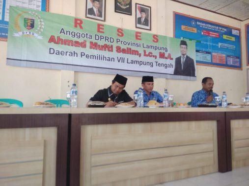 Reses Mufti Salim di Seputih Agung Lampung Tengah, Camat Chandra Sukma Akui Sering Mencuri