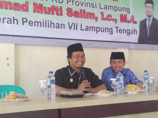 Reses di Kecamatan Seputih Agung, Ahmad Mufti Salim Catat Banyak Permintaan Warga