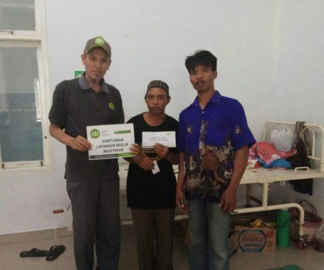 IZI Lampung Bantu Korban Luka Bakar di Seputih Banyak