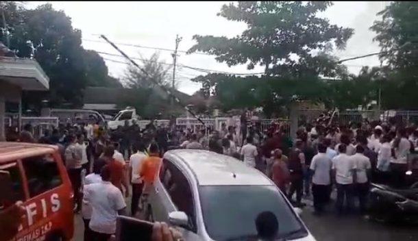 Massa HMI Bandar Lampung Ancam Laporkan Pegawai Balai Besar Mesuji-Sekampung