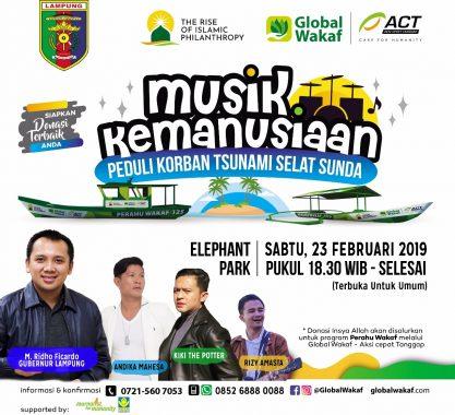 Pemprov Lampung dan Global Wakaf-ACT Lampung Siap Gelar Pergelaran Musik Kemanusiaan