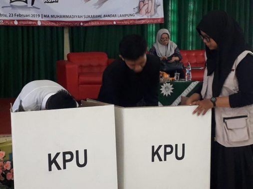 KPU Bandar Lampung Sosialisasi Pemilu kepada Siswa SMA dan SMK Muhammadiyah