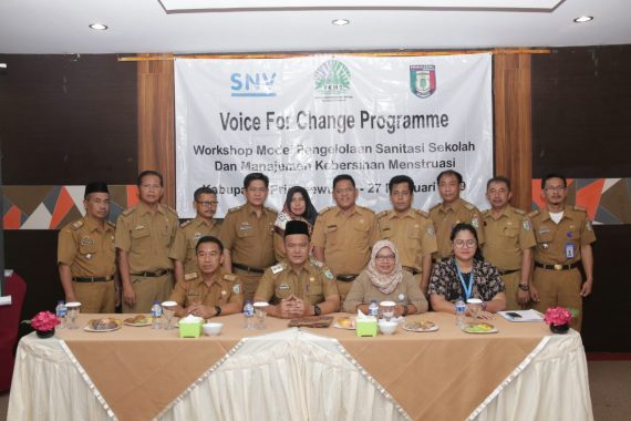 Pemkab Pringsewu Apresiasi YKWS-SNV Indonesia Sosialisasikan Sanitasi Sekolah