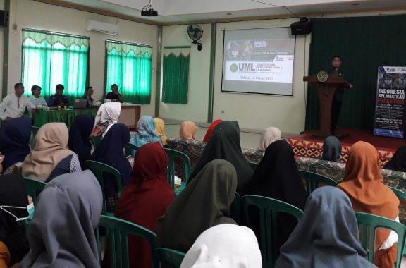 Difasilitasi ACT Lampung, Syekh Abdallah Asal Palestina Ceramah di Universitas Muhammadiyah
