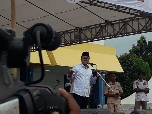 Kampanye Prabowo-Sandiaga di PKOR Way Halim, Zulkifli Hasan: Jangan Gara-Gara Sarung, Sembako, dan Uang Pilihan Berubah
