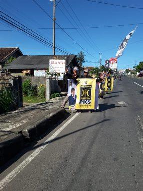 Caleg PKS untuk DPRD Lampung Dapil Tanggamus-Lambar-Pesbar Akhmadi Sumaryanto Ikuti Flashmob di Gisting