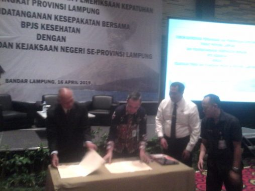 BPJS Kesehatan Teken MoU dengan Kejaksaan Tinggi dan Kejaksaan Negeri Se-Lampung