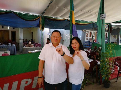 TPS 32 Sukarame Bandar Lampung Sediakan Spot Selfie Tema Pemilu Damai