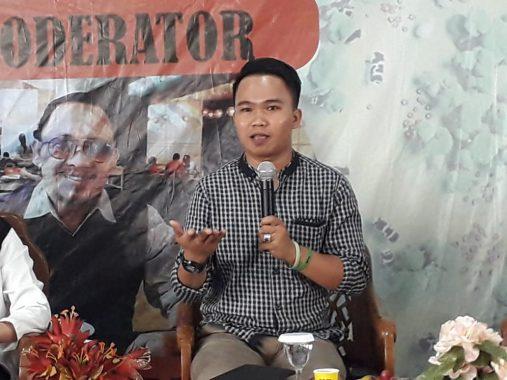 Narasumber Diskusi Publik Hari Bumi UKM Maharipal, Ini Paparan Irfan Tri Mursi dari Walhi Lampung