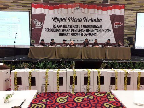 KPU Lampung Gelar Pleno Rekapitulasi Pemilu dan Pilpres di Novotel, Ratusan Polisi Jaga Ketat