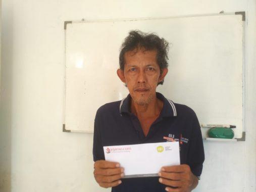 IZI Lampung Berbagi: Daryanto Buruh Harian Lepas Hidupi Keluarga dengan Keterbatasan Fisik