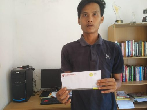 IZI Lampung Berbagi: Keluarga Nenek Salamah Doakan Donatur Diberi Kesehatan dan Rezeki Melimpan