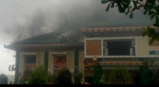 Diduga Korsleting, Ruang Wakil Bupati Pringsewu Fauzi Terbakar