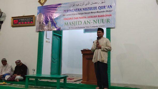Peringatan Nuzulul Quran di Masjid An Nuur Hajimena, Mufti Salim Ajak Jamaah Jadikan Alquran Pedoman Hidup
