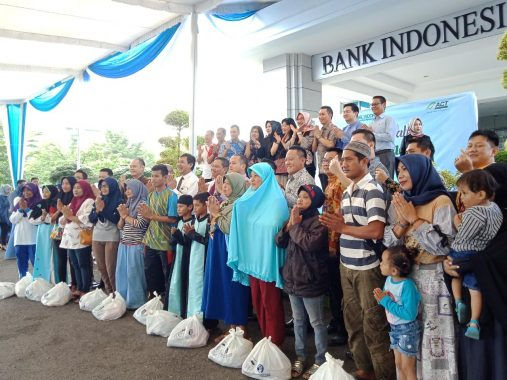 Warga Binaan ACT Lampung Terima Bantuan Sembako Murah dari BI dan BMPD