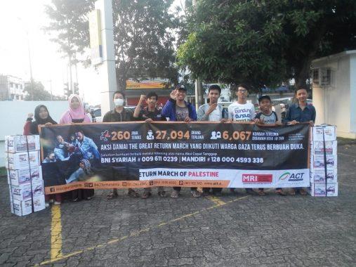 Relawan MRI-ACT Galang Donasi untuk Palestina di Jalan Urip Sumoharjo dan By Pass