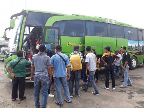 Jasa Raharja Lampung Berangkatkan 193 Peserta Mudik Gratis ke Palembang dan Padang