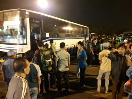 Banyak Bus Tak Layak Jalan Beroperasi di Terminal Rajabasa