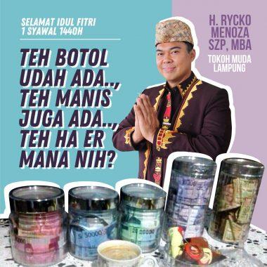 Malam Takbiran, Pedagang Sandal Depan Pasar Tugu Bandar Lampung Cair