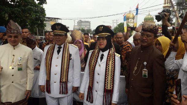 Arinal dan Nunik Resmi Gubernur-Wakil Gubernur Lampung, Ini Harapan Putri Hijab 2019 Siti Rahman Diannisa