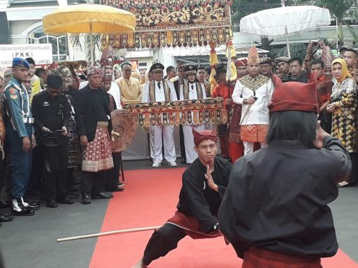 Bakal Calon Wali Kota Bandar Lampung Rycko Menoza Sambut Arinal di Mahan Agung