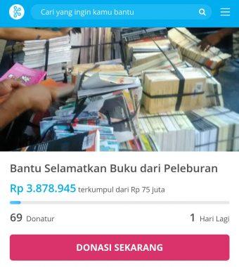Komunitas di Lampung Galang Dana Selamatkan Buku 20 Ton yang Mau Didaur Ulang