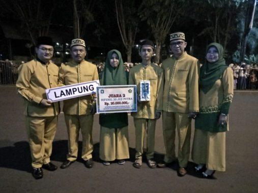 Penghafal Alquran Asal Lampung Terbaik Kedua Nasional