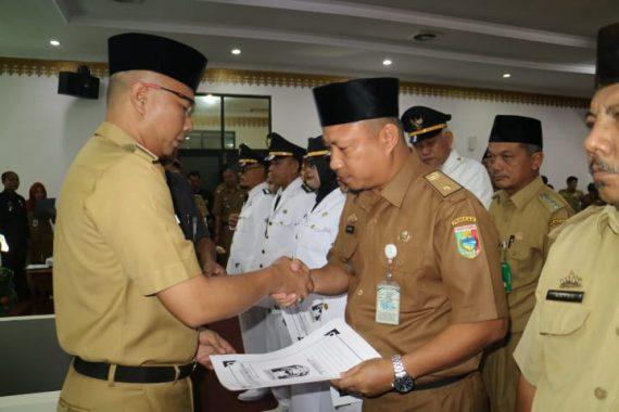 Sekda Tanggamus Hamid Lubis Lantik Sejumlah Pejabat Struktural Pemkab