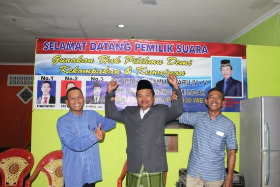 Seru Pemilihan Ketua RT 5 Kelurahan Sukabumi Indah, Ahmad Tas'an Unggul 5 Suara