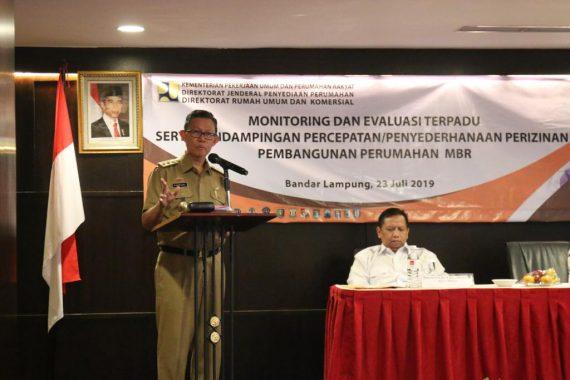 Pemprov Lampung Dukung Program Satu Juta Hunian