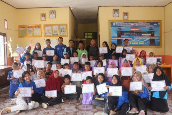 Relawan Gebyar Pelajar Lampung Tuntaskan Program Ekspedisi Negeri 1.000 Bambu
