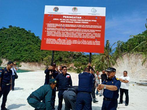 KPK Setop Reklamasi Ilegal di Pantai Marita dan Pulau Tegal Mas
