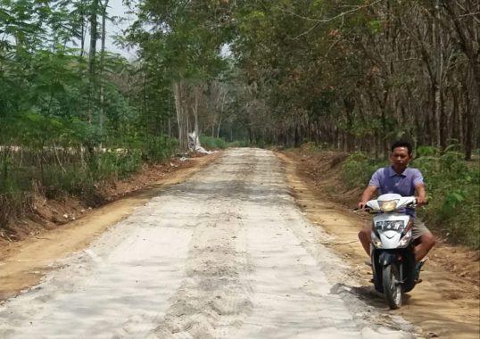 Advertorial: Warga Tiyuh Karta Tulangbawang Udik Perkerasan Jalan Ratusan Meter Dana Swadaya