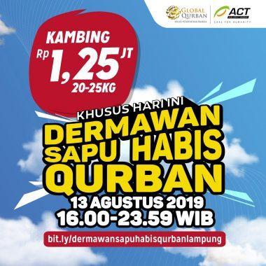 ACT Lampung Syukuran Kurban di Hunian Sementara Penyintas Tsunami Selat Sunda