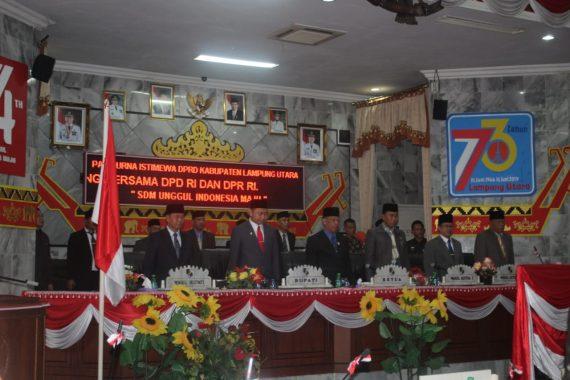 DPRD Lampung Utara Gelar Paripurna HUT RI