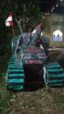 Warga RT 6 Way Rua Kelurahan Rajabasa Nunyai Bikin Tank Agar Semangat Anak Muda Membaja