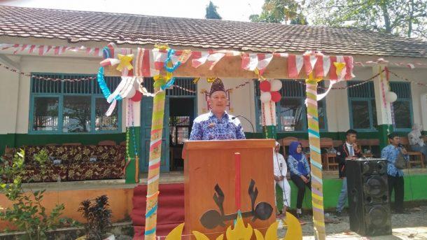 Drumben Jiwa Kesuma dan Tapak Suci Buka Perayaan HUT RI di SMKN 1 Kotaagung Barat