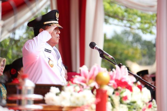 Gubernur Lampung Arinal Djunaidi Pimpin Upacara Detik-Detik Proklamasi di Lapangan Korpri