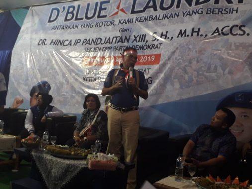 Ramai-Ramai Kader Partai Demokrat Lampung di Samping Pasar Koga, Ada Apa Sampai Sekjen Hinca Pandjaitan Datang?