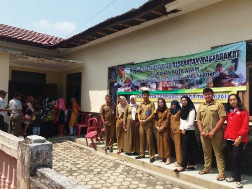 Puskesmas Kotabumi 2 Sosialisasikan Kesehatan di Kantor Lurah Kotaalam Kotabumi Lampung Utara