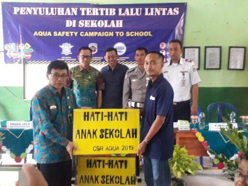 Danone Aqua Tanggamus Kampanye Keamanan Berlalu Lintas Bagi Pelajar.