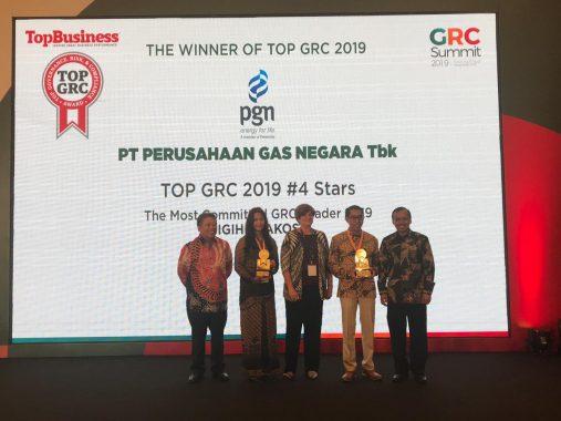 PGN Raih 2 Penghargaan TOP GRC 2019