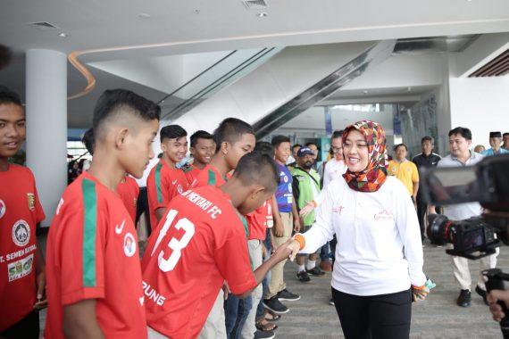 Wagub Lampung Beri Semangat Tim Sepak Bola Lampung U-14 Menangkan Piala Menpora