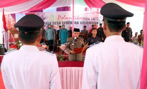 Plt Bupati Lampung Selatan Lantik Lima Kades Terpilih di Palas