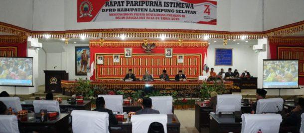 DPRD Lampung Selatan Gelar Rapat Paripurna Istimewa Dengar Pidato Kenegaraan Presiden RI